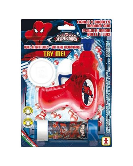 Kit Bolle di sapone Spiderman con Pistolina Luminosa