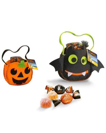 Borsetta Portadolci Halloween con Caramelle Gelatine Assortite Caffarel 100gr