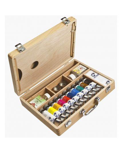 Scatola Box Legno Van Gogh Colori a Olio con Pennelli Royal Talents 32x26cm