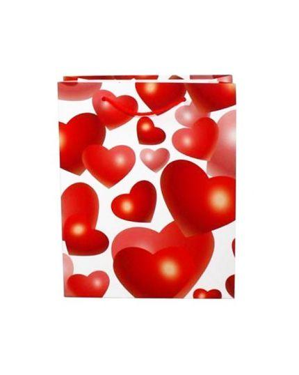 Shopper Carta San Valentino con Cuori 42x33x10cm