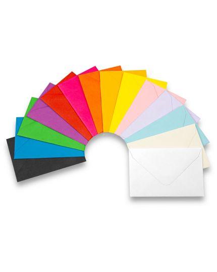 10 Buste con Biglietti Colorati per Regali 11x7,5cm