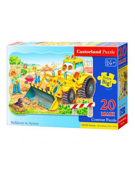 Puzzle Trattore In Azione 20 Pezzi Maxi 59x40 Cm