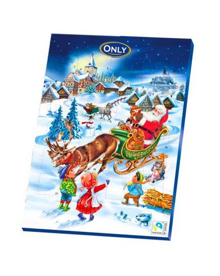 Calendario dell'Avvento Slitta Babbo Natale Only