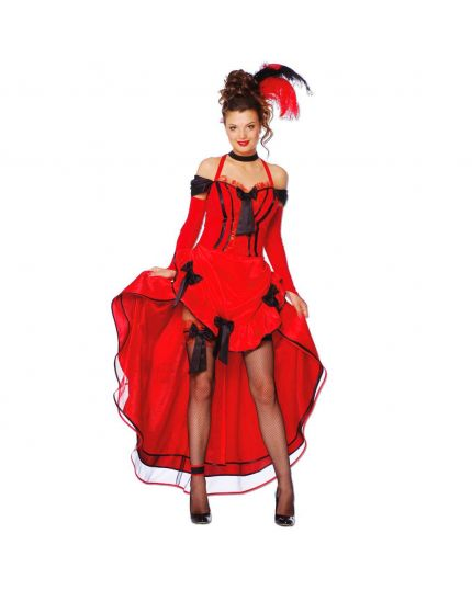 Costume Ballerina Can Can Rosso Donna