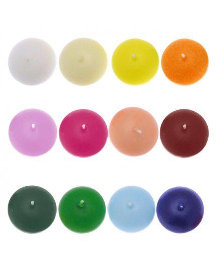 Candele Galleggianti Colorate Diametro 4,5cm