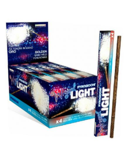 Bastoncini Luminosi Wizard of Light Bacchetta Magica 28cm 4pz
