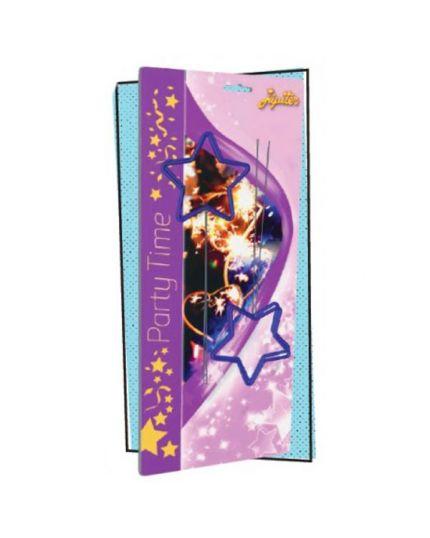 Candeline Scintillanti Stelle Blu 14cm