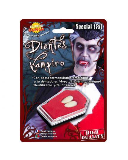 Denti Canini da Vampiro con pasta Modellabile