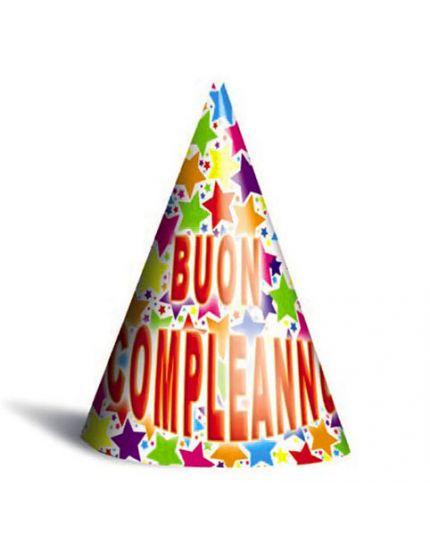 Cappellini Buon Compleanno Stelle Multicolor