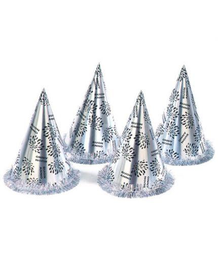 Cappellino Cono Argento Buon Anno Capodanno