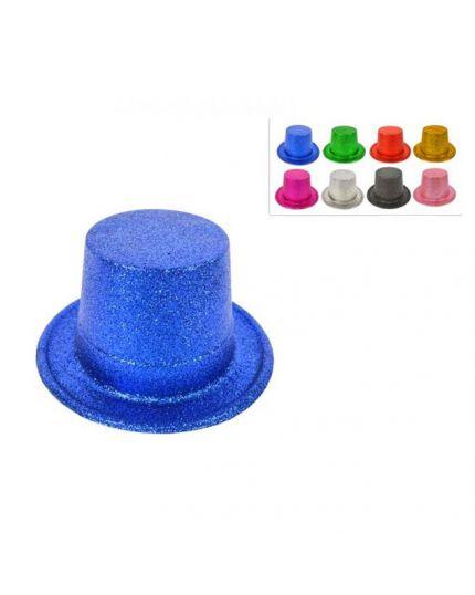 Cappello Cilindro Alto Glitter