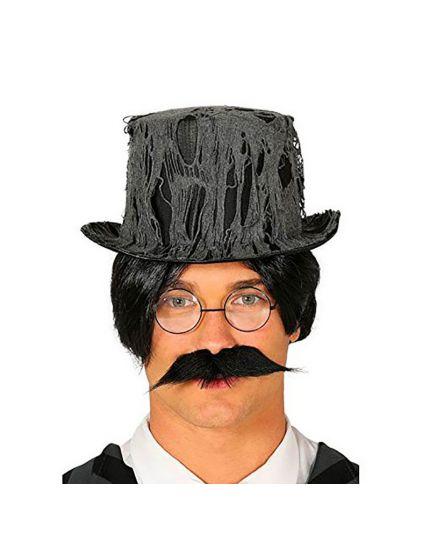 Cappello Cilindro Nero con Ragnatele