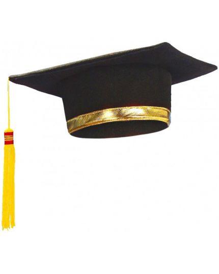 Tocco Cappello Laurea con Bordo Oro