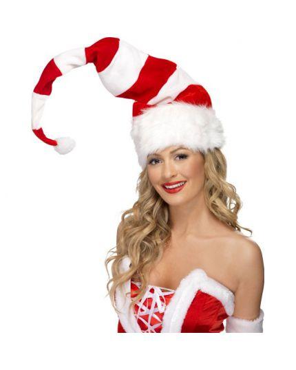 Maxi Cappello Aiutante di Babbo Natale Righe