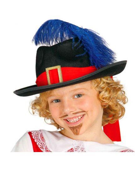 Cappello Moschettiere con Piuma Bambino
