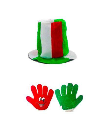 Kit Tricolore Italia Cilindro + Mano Gigante