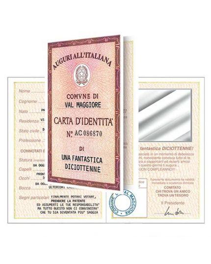 Biglietto Auguri 18 Anni Divertente Carta Identità - Una Fantastica Diciottenne