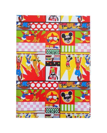 Foglio Carta Regalo Mickey, Pluto e Paperino Colorata 70x100cm