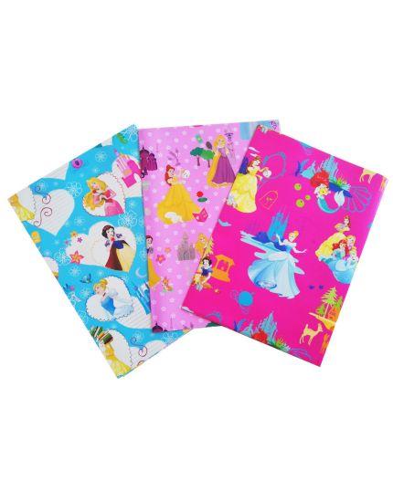 Foglio Carta Regalo Principesse Disney Colorata 70x100cm