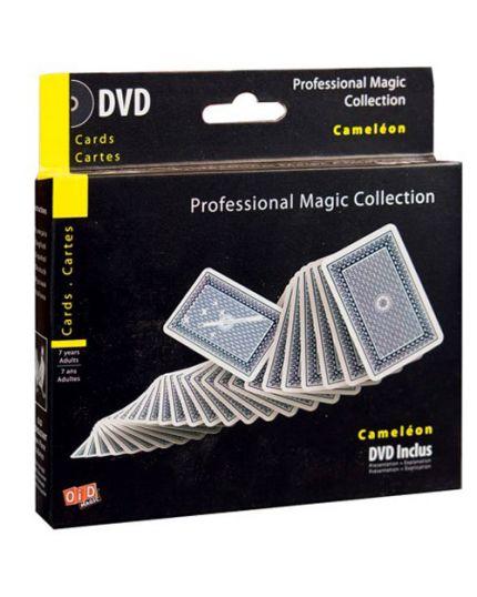Trucco Magia Mazzo Carte Camaleonte Professional Magic Collection con DVD