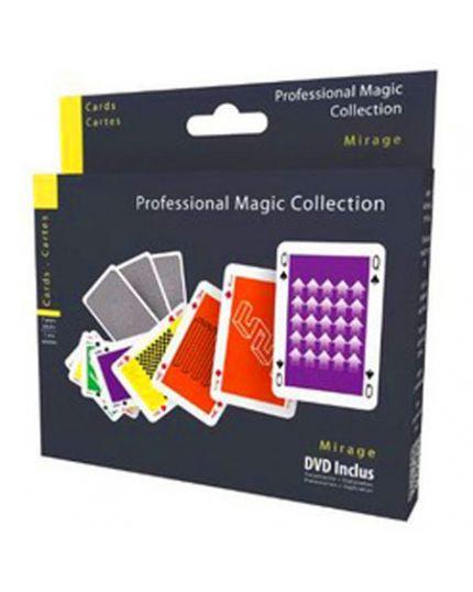 Trucco Magia Carte Mirage Professional Magic Collection con DVD