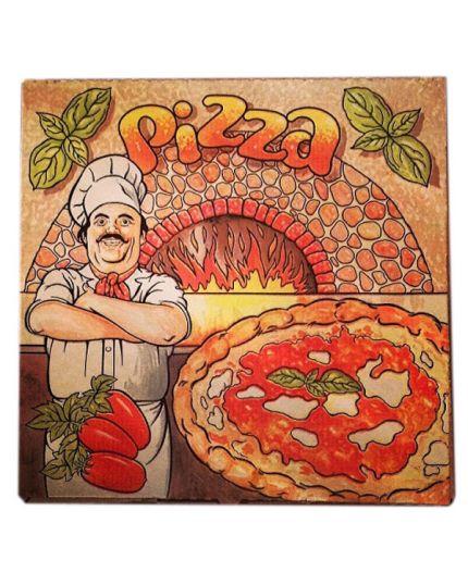 10 Scatole Cartone per Pizza 33x33cm