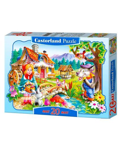 Puzzle Cappuccetto Rosso 20 Pezzi Maxi 59x40 Cm