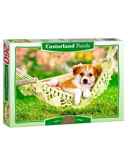 Puzzle Cagnolino Su Amaca 260 Pezzi 32x23 Cm