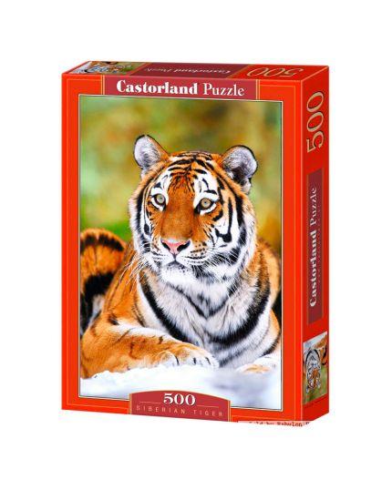Puzzle Tigre Siberiana 500 Pezzi 47x33 Cm