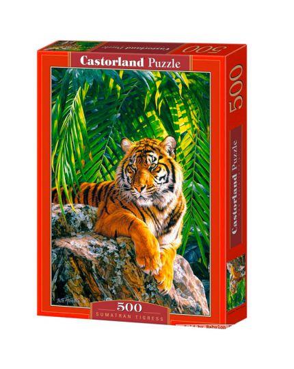 Puzzle Tigre di Sumatra 500 Pezzi 47x33 Cm