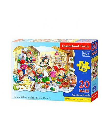 Puzzle Biancaneve E I Sette Nani 20 Pezzi Maxi 59x40 Cm