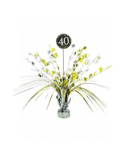 Centrotavola Happy Birthday 40 Anni Sparkling