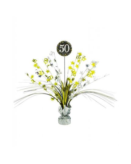 Centrotavola Happy Birthday 50 Anni Sparkling