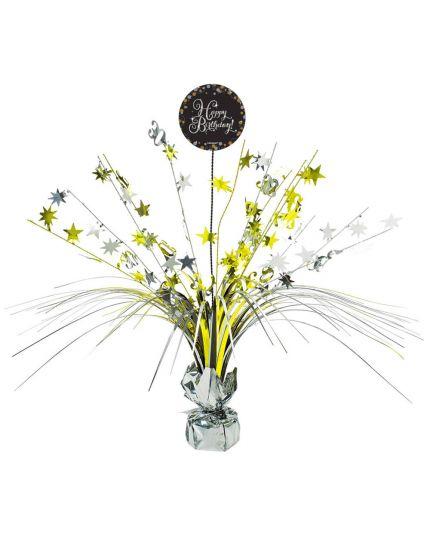 Centrotavola Happy Birthday Sparkling 45cm