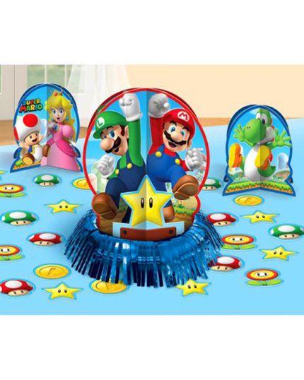 Centrotavola Carta Super Mario 3 Pezzi