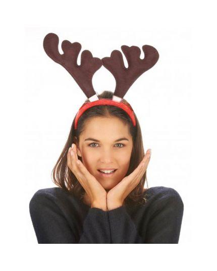 Cerchietto Renna Natale in Tessuto