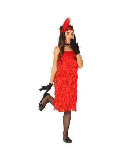 Costume Charleston Rosso Bambina