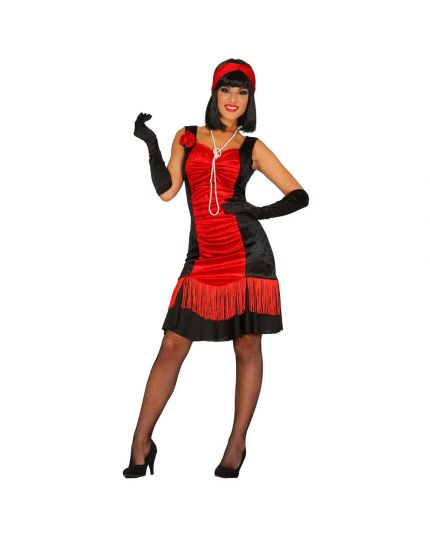 Costume Charleston Rosso Nero Donna