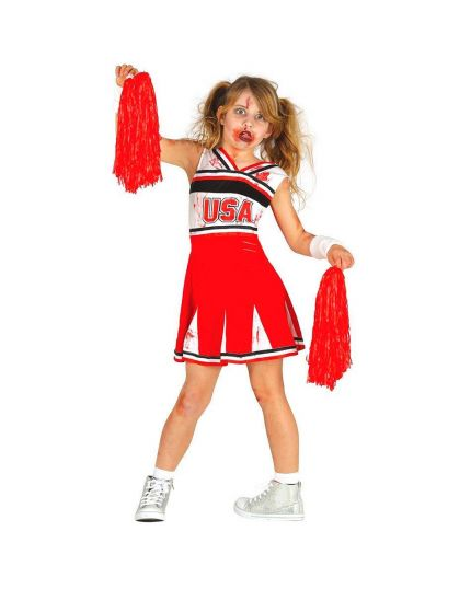 Costume Cheerleader Zombie Bambina