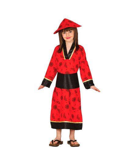 Costume Cinesina Rossa Bambina