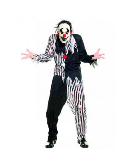 Costume Clown Horror Bianco e Nero