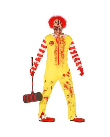Costume Clown Burger IT Insanguinato Adulto