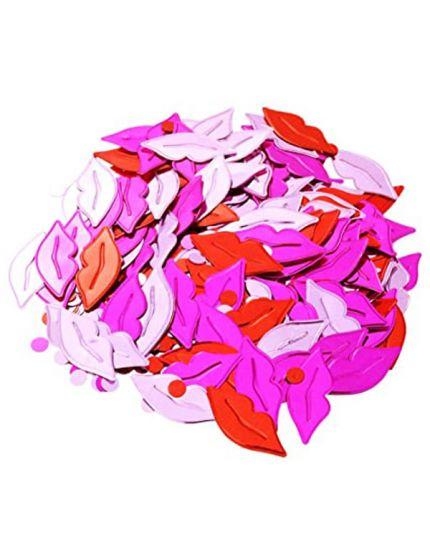 Coriandoli Confetti da Tavola Metallizzati Labbra 3,6cm