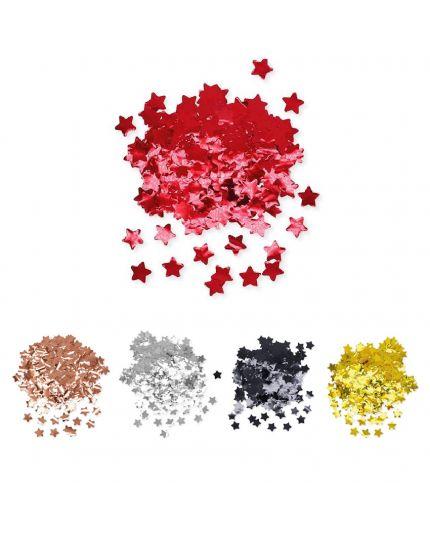 Coriandoli Confetti da Tavola Colorati Metal Forma Stella 2cm 50gr