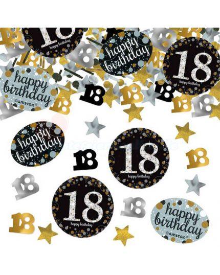 Confetti da Tavola 18 Anni Sparkling Argento e Oro 34gr