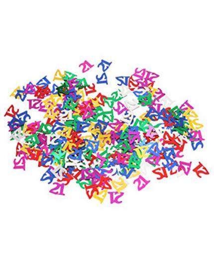 Coriandoli Confetti da Tavola Numero 21 Anni Metal Multicolor 1cm