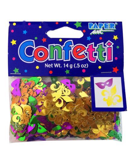 Coriandoli Confetti da Tavola Metal Mascherine e Gigli 1,5 e 2cm