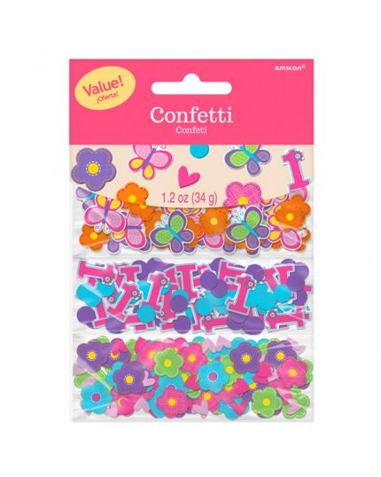 Coriandoli Confetti da Tavola Sweet Primo Compleanno Girl 2,5cm