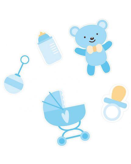 Coriandoli Confetti da Tavola Carta Baby Boy Celeste 4,5cm
