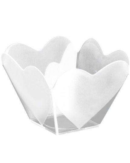 Coppette Cupido Pvc Trasparenti con Cuori per Finger Food 25pz